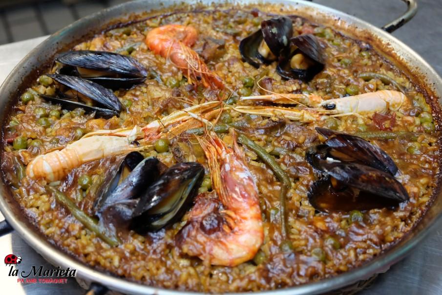 Paella marinera Restaurant La Marieta en Mollet