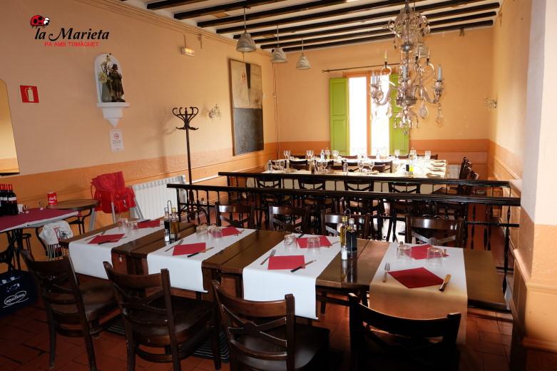 Menús para grupos en Mollet del Vallès Barcelona, Restaurant La Marieta, íntimo y familiar, aniversarios,cenas románticas,  cenas de empresa y celebraciones