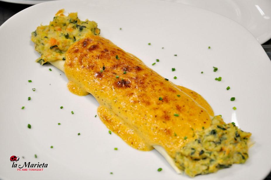 Restaurante La Marieta, Mollet del Vallès, Barcelona, menú diario a 11,60€,crep de verduras y pescado, todos los días un arroz diferente