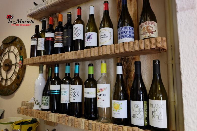 Restaurante La Marieta, nueva carta de vinos, variada,  celler de vins, íntimo y familiar, aniversarios,cenas románticas,  y celebraciones en Mollet del Vallès, Barcelona