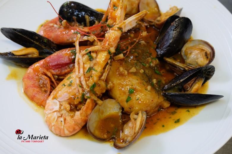 Restaurante La Marieta, Mollet del Valles, íntimo y familiar,especialistas en arroces, Menú desgustación mariscada