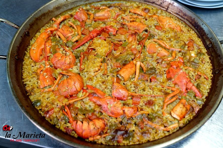 Uno de los mejores arroz socarrat en Mollet, Barcelona, restaurante la Marieta